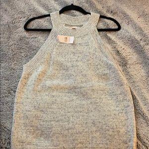 Grey tank top sweater
